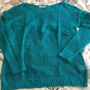 AEO teal open weave sweater NWOT in XL